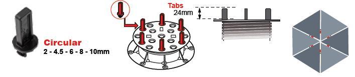 Buzon skirtukas BC-TAB/C-2 MM