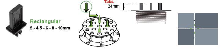Buzon skirtukas BC-TAB/R-8 MM