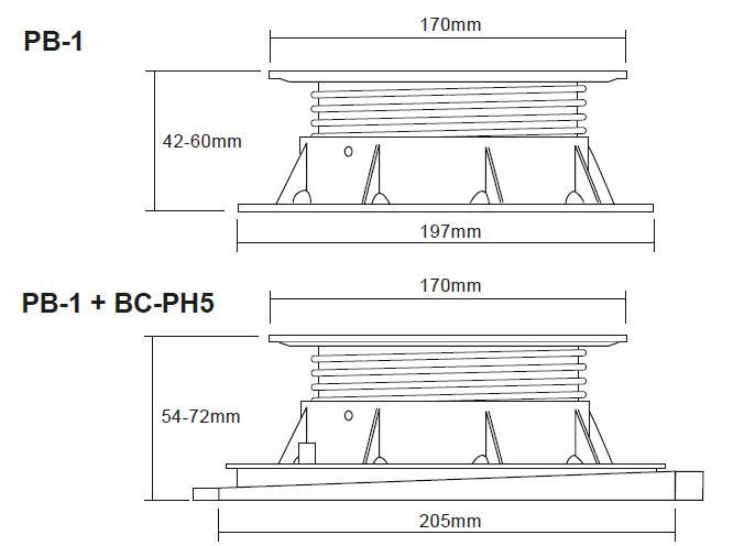 Buzon Atrama PB-1 (42-60 MM)