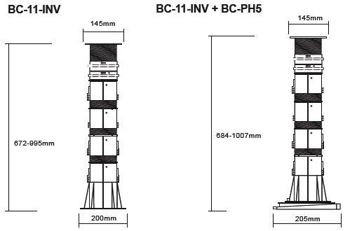Buzon atrama BC-11 (672-995 MM)
