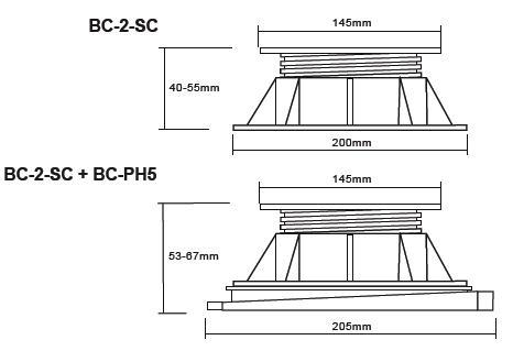 Buzon atrama BC-2 (40-55 MM)