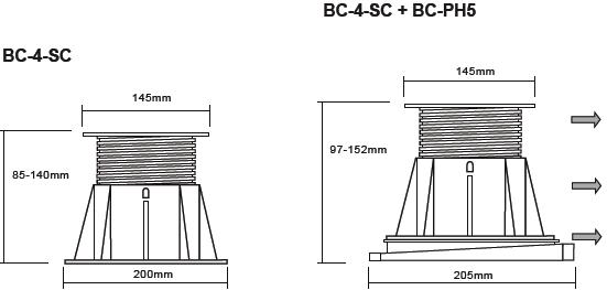 Buzon Atrama BC-4 (85-140 MM)